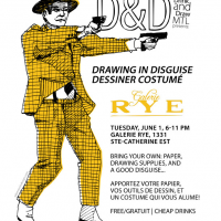 Thumbnail image for Drink & Draw June 1st! Drawing in Disguise / Dessiner costumé