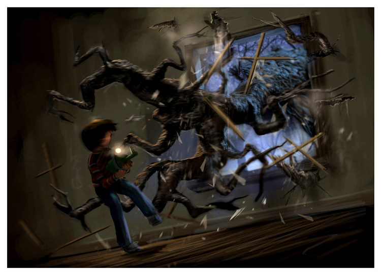 Concept art pour le jeu Monster House (PS2)