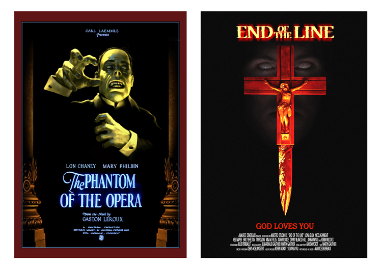 Affiche pour le film The Phantom of the Opera (Photoshop)/ Affiche pour le film End of the Line (Photoshop)