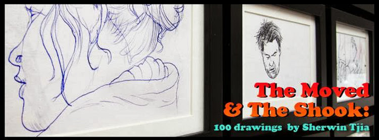 Post image for The Moved and the Shook: 100 Drawings by Sherwin Tija (until Oct 27)