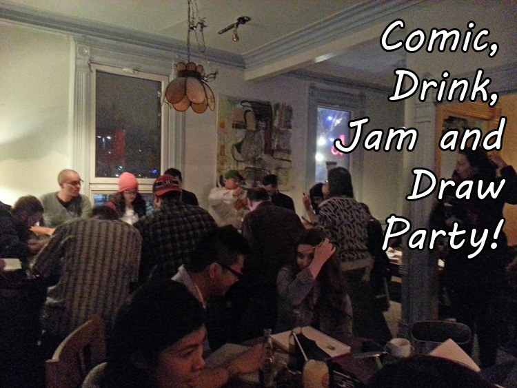Post image for Comic, Drink, Jam and Draw – Post Mortem!