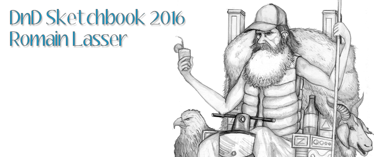 Post image for DnD Sketchbook 2016: Romain Lasser